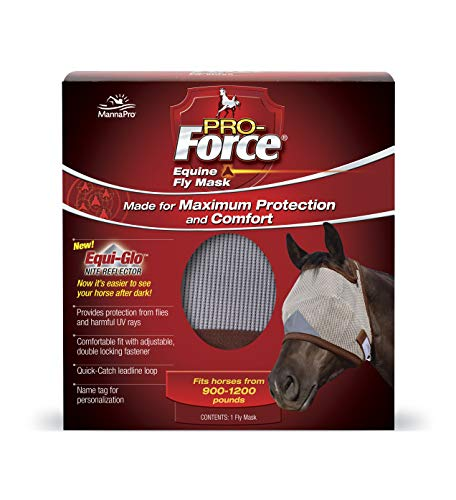 Pro-Force Equine Fly Mask | Horse Fly Mask with UV Protection | Adjustable Fit for Comfort | Without Ears