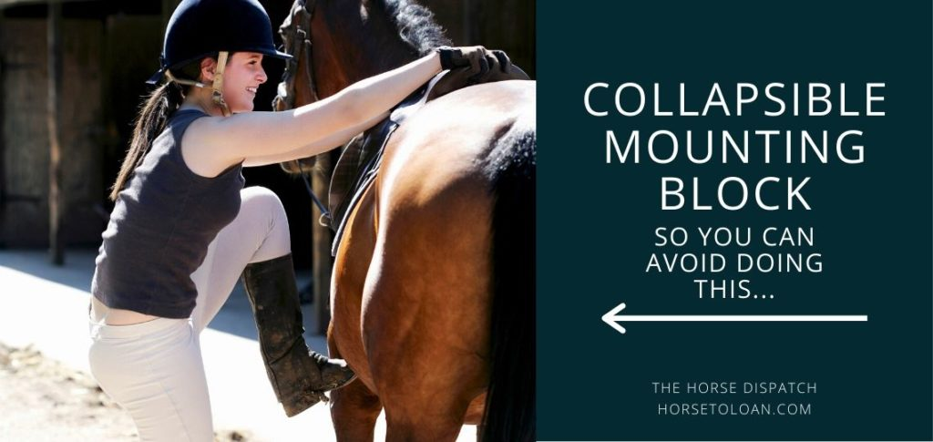 collapsible mounting block for horses